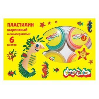 Пластилин шариковый мелкозернистый «Каляка Маляка». 4 цвета