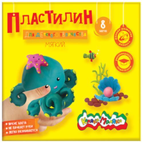 Пластилин Каляка-Маляка для детского творчества 8 цв. 120,00 г стек