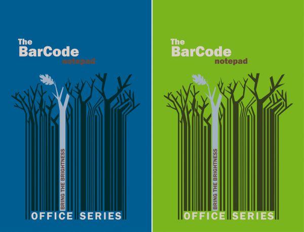 """Бл 50л Клей 210*297 кл 6497/2-ЕАС полн УФ """"Штрих-код: деревья, синий/зеленый"""""""