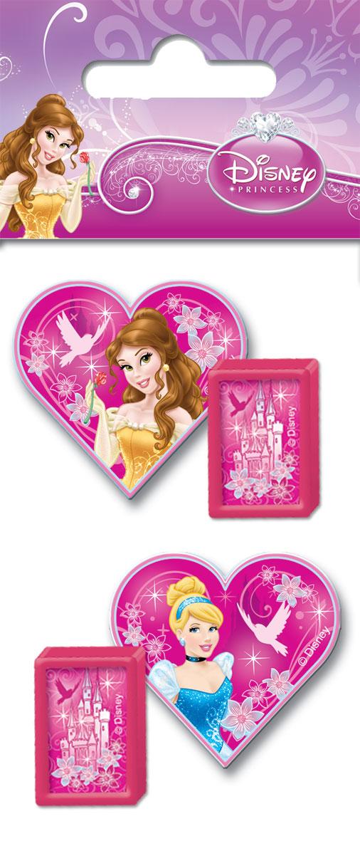Набор канцелярский в пакете: точилка 2 шт., ластик фигурный 2 шт, размер 14 х 6 х 1,5 см, упак. 40/400 шт.Princess