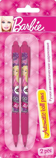 Ручки автоматические шариковые, цвет пасты синий, 2 шт. Печать на корпусе - термоперенос. Упаковка - блистер, 500 г/м2, 4+1, европодв Barbie