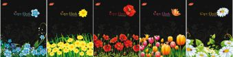 Тетр 48л скр А5 кл 6540/5-EAC полн УФ Цветы на черном