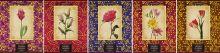 Тетр 60л скр А5 кл 6650/5-EAC лен, тисн фольг, конгрев Vintag Flowers (с доп лист) Sev