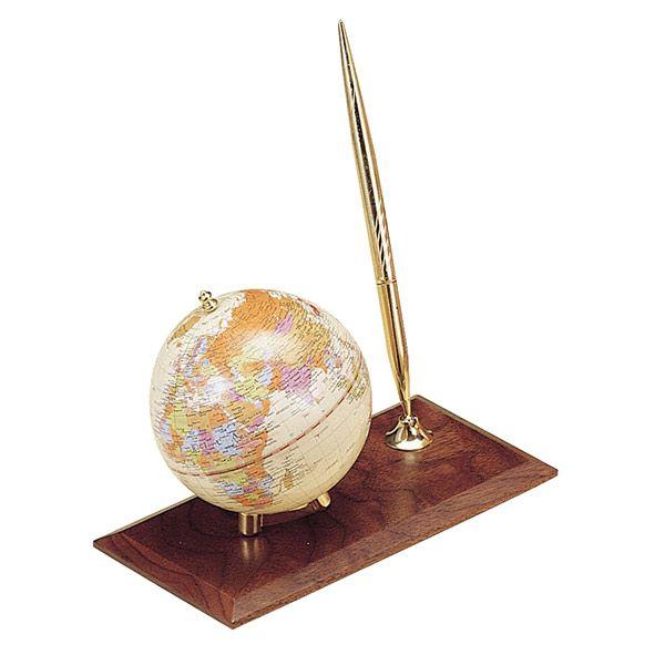 Набор глобус на дерев.подставке+ руч.орех