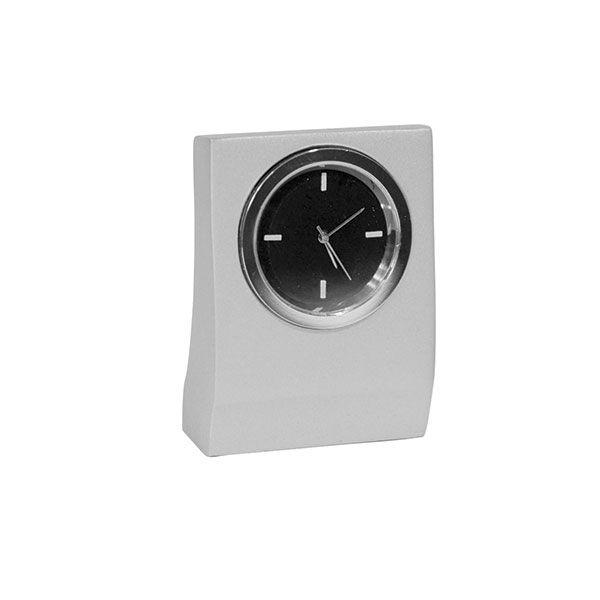 Часы наст. квадратные круглый циферблат металл серый