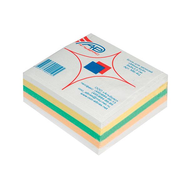 Блок д/зап. 8х8х3,5см Куб прокл. 4 цв. 80 г/м2