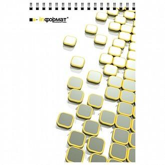 Блокнот А5 40 л. кл. PLACER спир.лам.карт. 65 г/м2