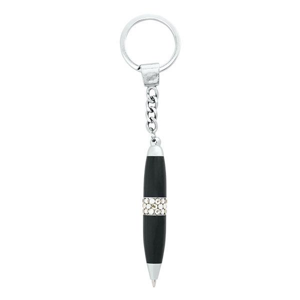 Брелок-ручка GLAM со стразами черный пласт.футл.