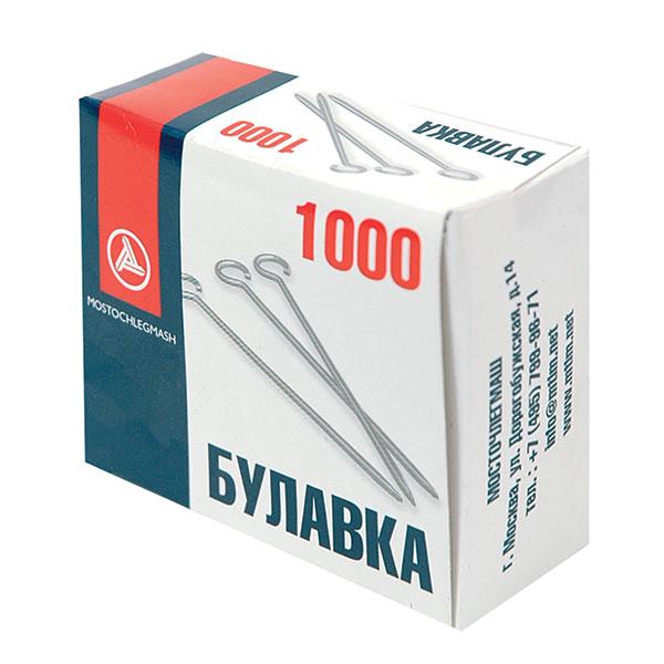 Булавки МОСТОЧЛЕГ металл 30 мм 1000 шт