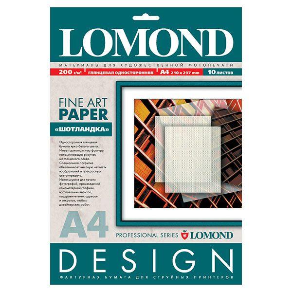 Бумага LOMOND шотландка односторонняя глянцевая 10 л. 200 г/м2 А4