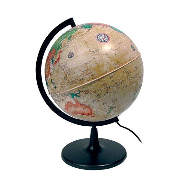 "Глобус Земли политический ""Ретро-Александр"" с подсветкой, диаметр 210 мм"