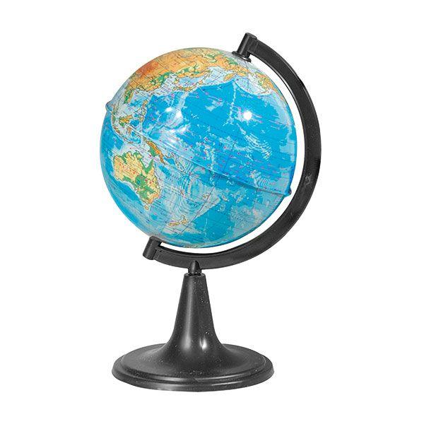 Глобус Земли физический  на подставке из пластика, диаметр 150 мм