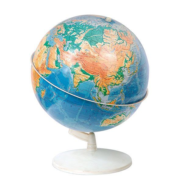 Глобус Земли физический  на подставке из пластика, диаметр 320 мм