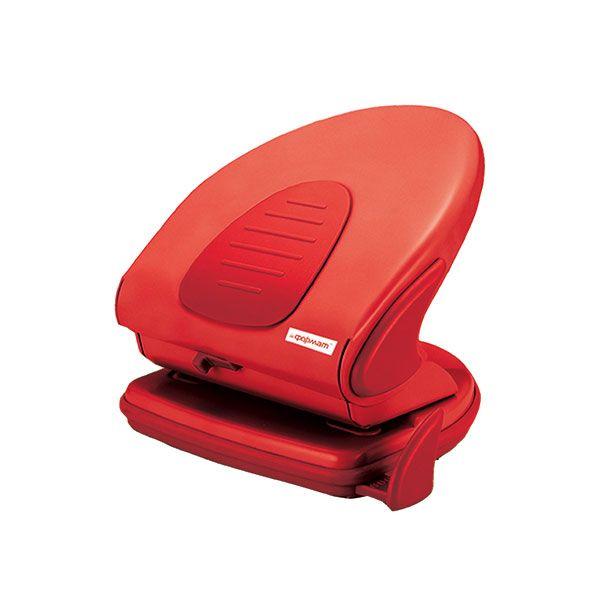 Дырокол POWER красн. комбинированный 40 л. линейка форматов