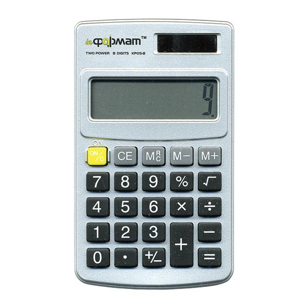 Калькулятор  inФОРМАТ KP05-8 8 р серебро карманный