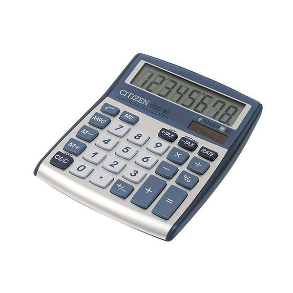 Калькулятор CITIZEN CDC80 8 р т.-серый школьный
