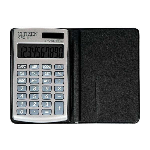 Калькулятор CITIZEN CPC110 10 р серебро карманный