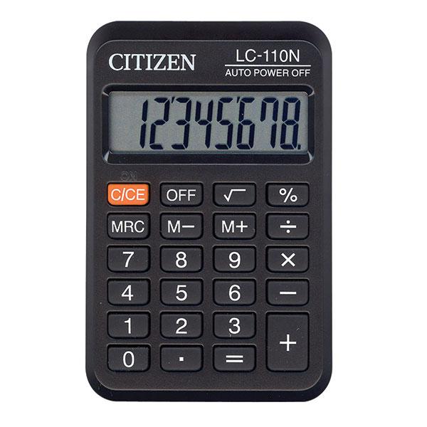 Калькулятор CITIZEN LC-110 8 р черный карманный