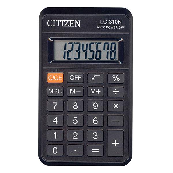 Калькулятор CITIZEN LC310 8 р черный карманный