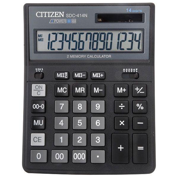 Калькулятор CITIZEN SDC414 14 р черный бухгалтерский