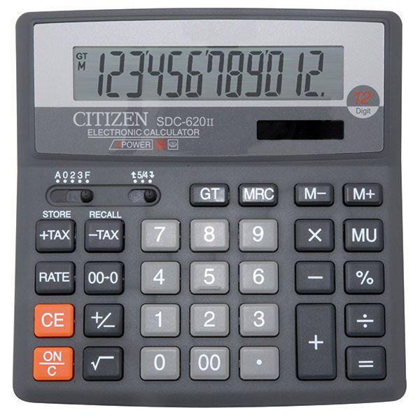 Калькулятор CITIZEN SDC620 12 р серый бухгалтерский