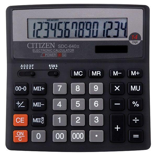 Калькулятор CITIZEN SDC640 14 р черный бухгалтерский