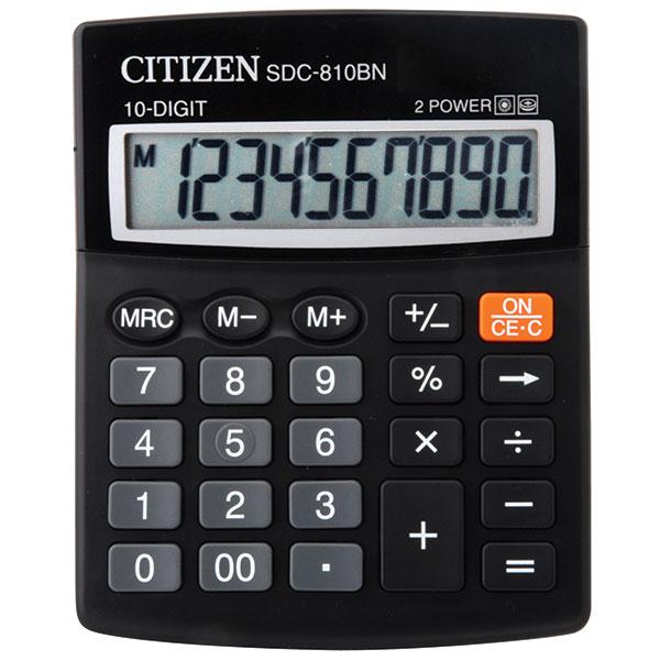Калькулятор CITIZEN SDC810B 10 р черный бухгалтерский