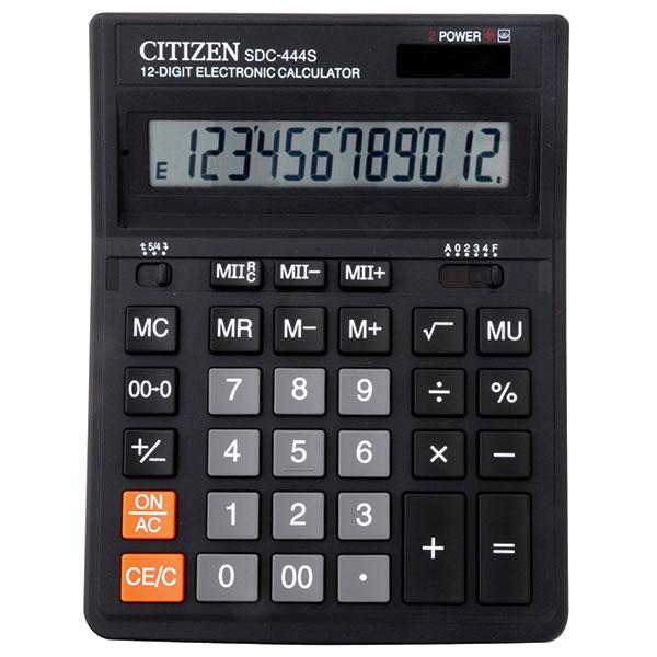 Калькулятор CITIZEN SDS444S 12 р черный бухгалтерский