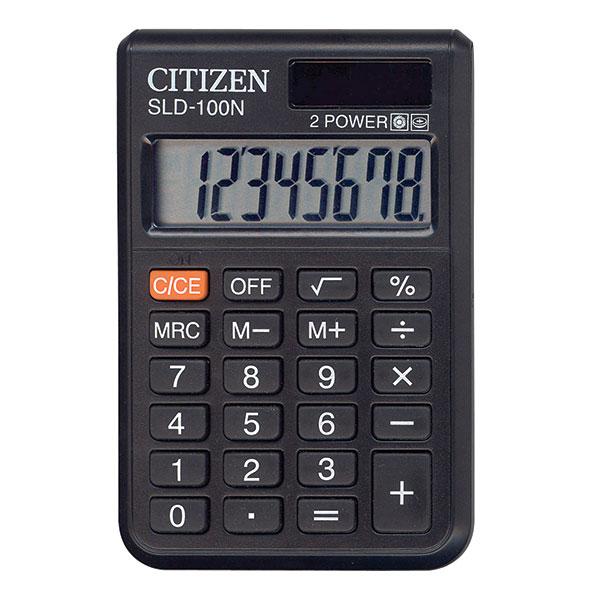Калькулятор CITIZEN SLD100 8 р черный карманный