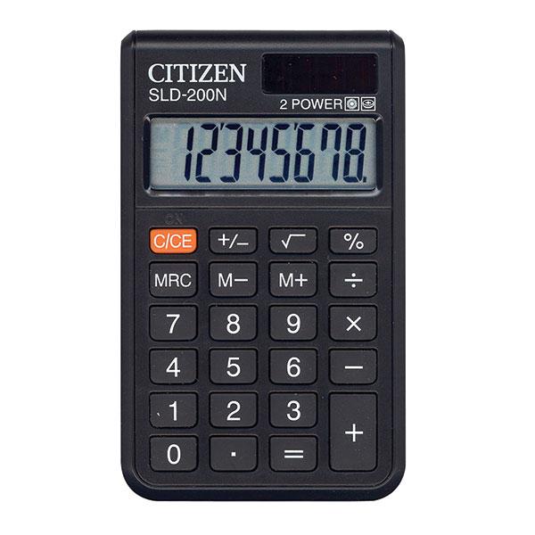 Калькулятор CITIZEN SLD200 8 р черный карманный