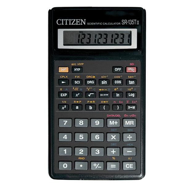 Калькулятор CITIZEN SR135T 10 р черный карманный