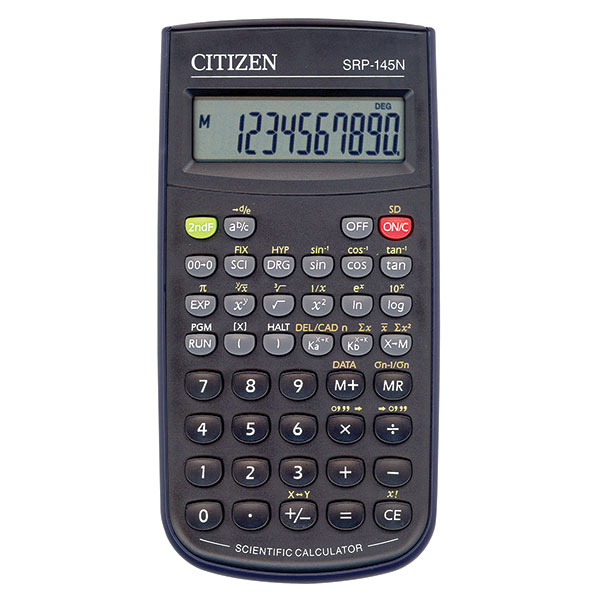 Калькулятор CITIZEN SRP145T 10 р черный научный