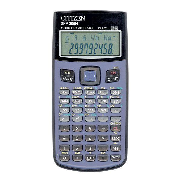 Калькулятор CITIZEN SRP285II 12 р черный научный