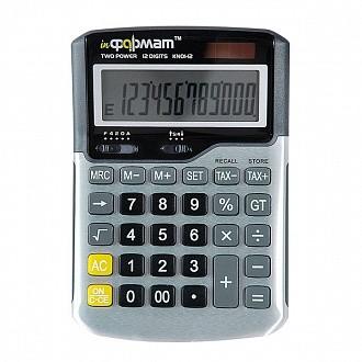 Калькулятор inФОРМАТ KN01-12 12 р т.-серый бухгалтерский