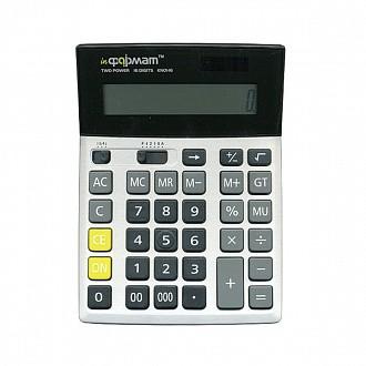 Калькулятор inФОРМАТ KN01-16 16 р серый бухгалтерский