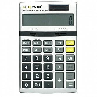 Калькулятор inФОРМАТ KN02-12 12 р т.-серый бухгалтерский