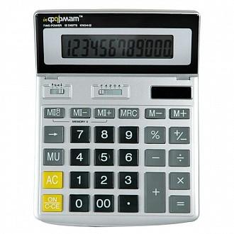 Калькулятор inФОРМАТ KN04-12 12 р серый бухгалтерский