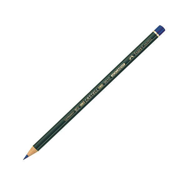 Карандаш спец. FABER CASTELL 12 шт 1 цв. круглый с заточкой перманентный синий