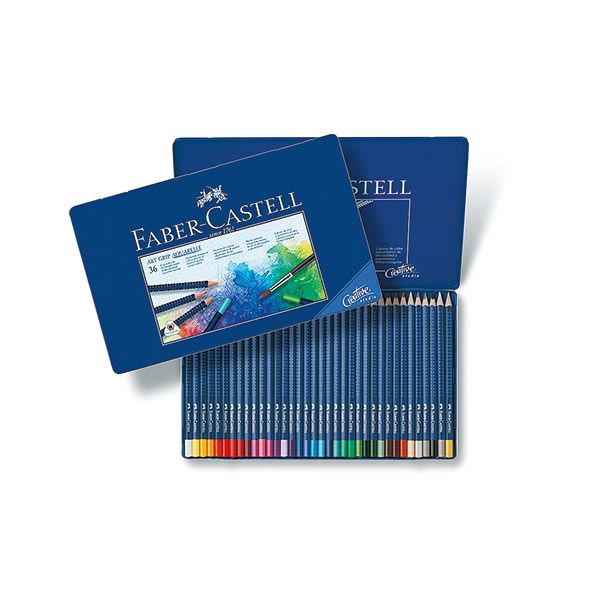 Акварельные карандаши ART GRIP AQUARELLE, набор цветов, в металлической коробке, 36 шт.