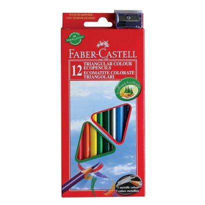 Цветные карандаши ECO с точилкой, набор цветов, в картонной коробке, 12 шт. - фото 1