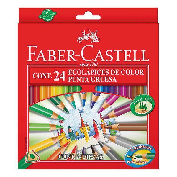 Набор цветн.каранд FABER ECO 24 цв. трехгранные с заточкой