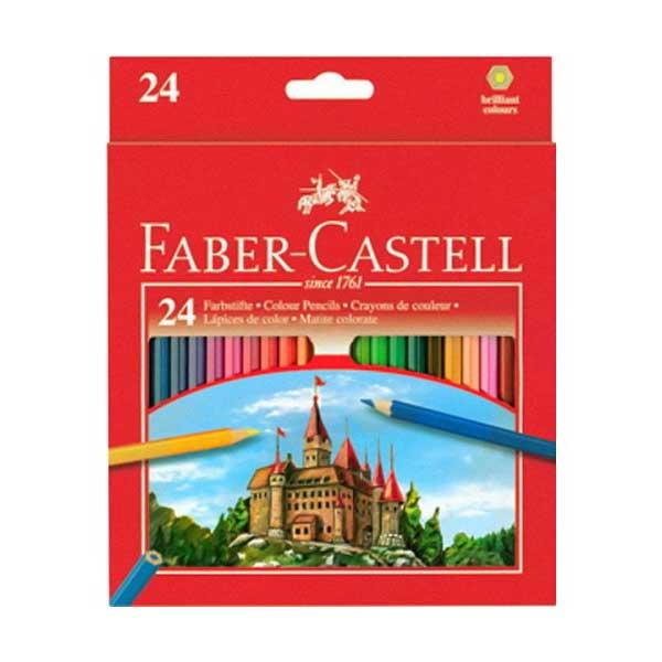 Цветные карандаши ECO с точилкой, набор цветов, в картонной коробке, 24 шт (трехгранные) карандаши восковые мелки пастель мульти пульти карандаши цветные трехгранные енот в испании 18 цветов