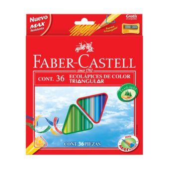 Набор цветн.каранд FABER ECO 36 цв. трехгранные с заточкой с точилкой