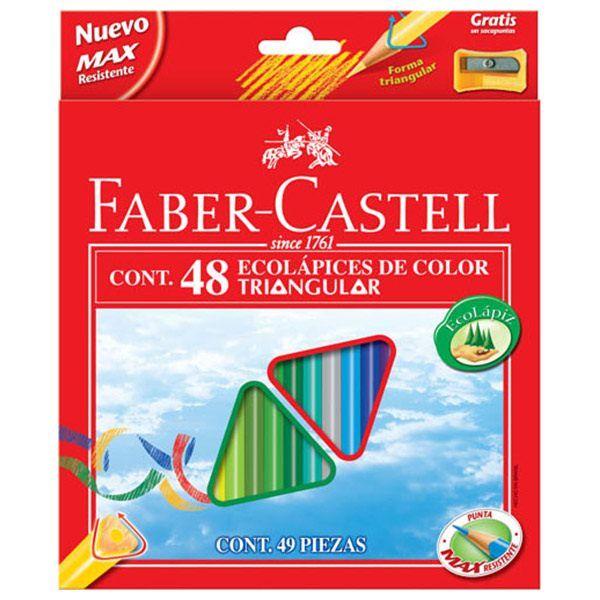 Набор цветн.каранд FABER ECO 48 цв. трехгранные с заточкой с точилкой