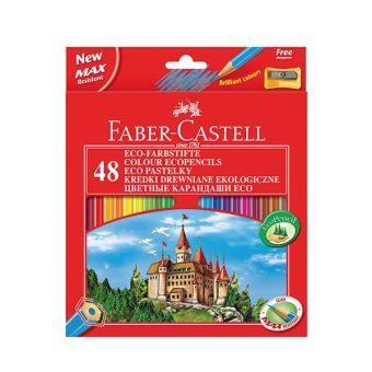 Цветные карандаши ECO ЗАМОК с точилкой, набор цветов, в картонной коробке, 48 шт.