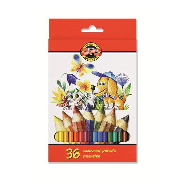 Набор цветн.каранд KOH-I-NOOR LA PALOMA 36 цв. шестигранные с заточкой