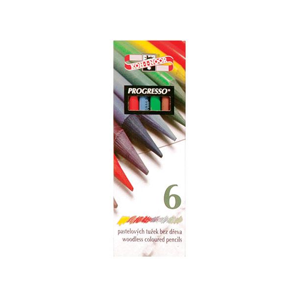 Набор цветн.каранд KOH-I-NOOR PROGRESSO 6 цв. круглые с заточкой