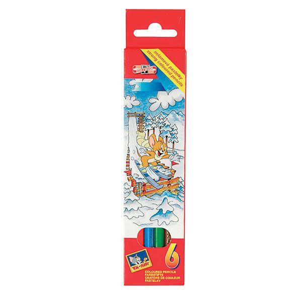 Набор цветн.каранд KOH-I-NOOR TOM&JERRY 6 цв. шестигранные с заточкой
