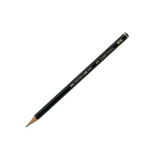 Карандаш чернографит. FABER-CASTELL 9000 В шестигранный с заточкой