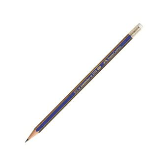 Карандаш с ласт. FABER-CASTELL GOLDFABER 1222 НВ шестигранный с заточкой